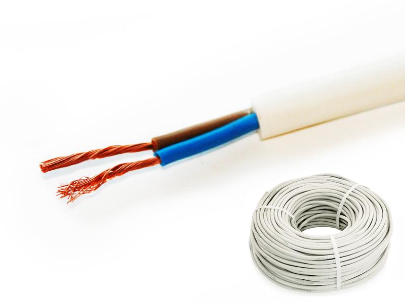 Провод соединительный ПВС РЭК-PRYSMIAN 2х0,75 мм. кв. бухта 50 м