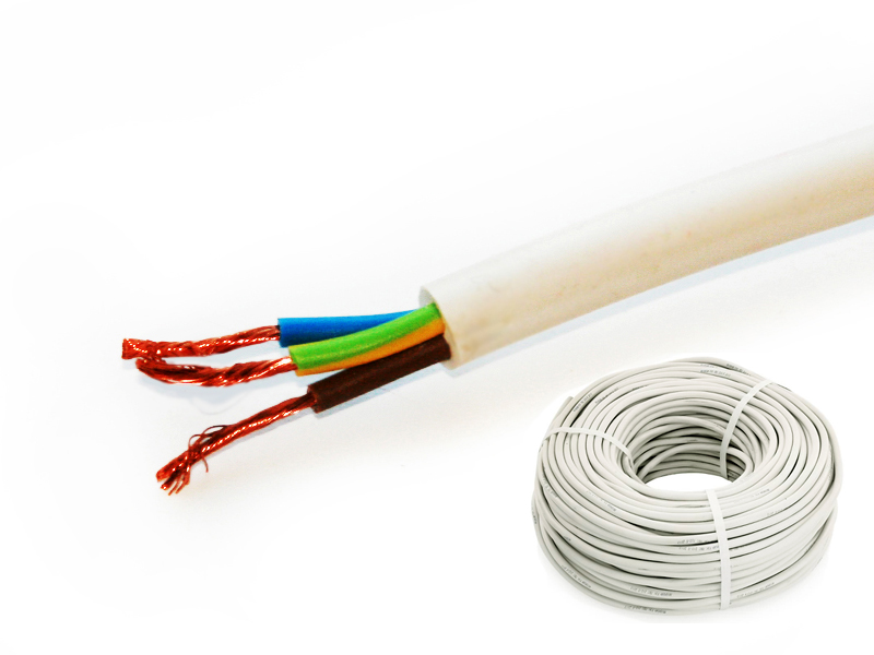 Провод соединительный ПВС РЭК-PRYSMIAN 3х0,75 мм. кв. бухта 10 м