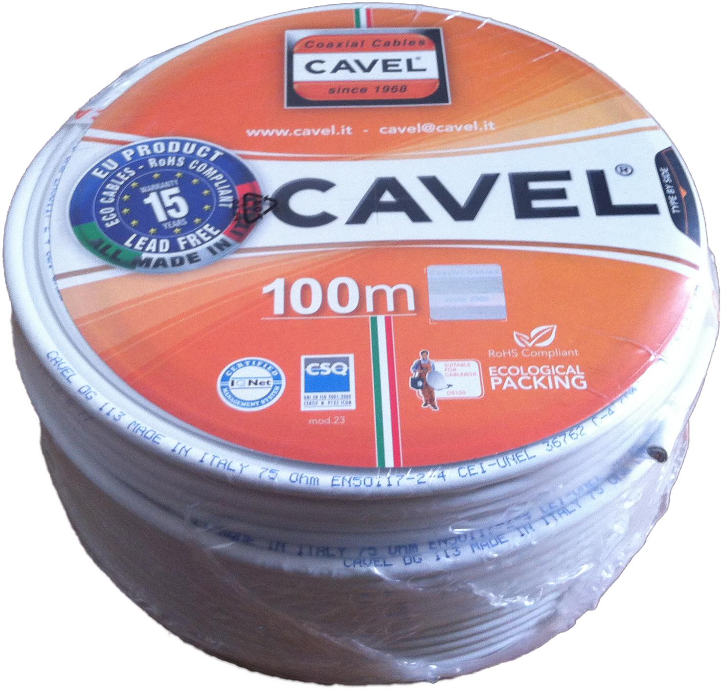 Кабель телевизионный DG 113 Cavel (жила медь, оплетка медь луженая)