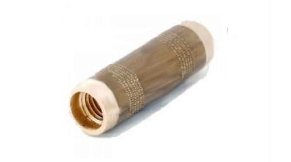 Муфта для резьбовых стержней заземления латунная