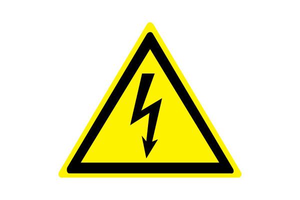 W08 Опасность поражения электрическим током (Пластик 100 х 100)