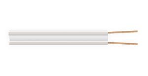 Провод телефонный ТРП 2х0,4 мм кв. белый