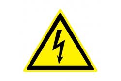 W08 Опасность поражения электрическим током (Пленка 100 х 100)