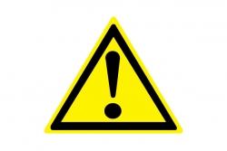 W09 Внимание. Опасность (прочие опасности) (Пластик 200 х 200)